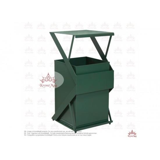 Coș Gunoi Metalic Stradal URBAN 34.C cu capac