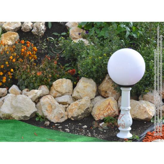 Stâlpișor Iluminat Grădină,Curte Fontă SI 950 GLOB300A