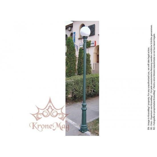 Stâlp Iluminat Grădină,Curte Metalic cu Fontă VILLA-1