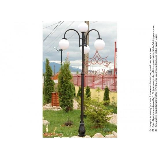 Stâlp Iluminat Grădină,Curte Metalic cu Fontă UNIO-M87-CS31