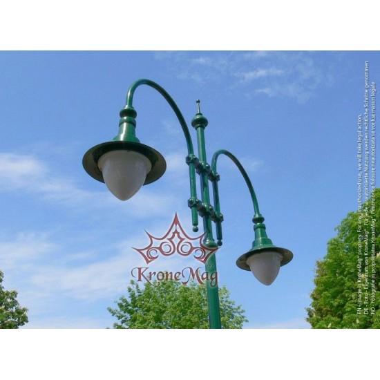 Stâlp Iluminat Parc Metalic cu Ornamente Fontă T6-H2