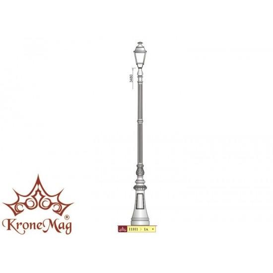 Stâlp Iluminat Decorativ pentru Parc din Fontă M1H1-1a