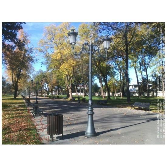 Stâlp Iluminat Decorativ pentru Parcuri din Fontă M1H1-S2