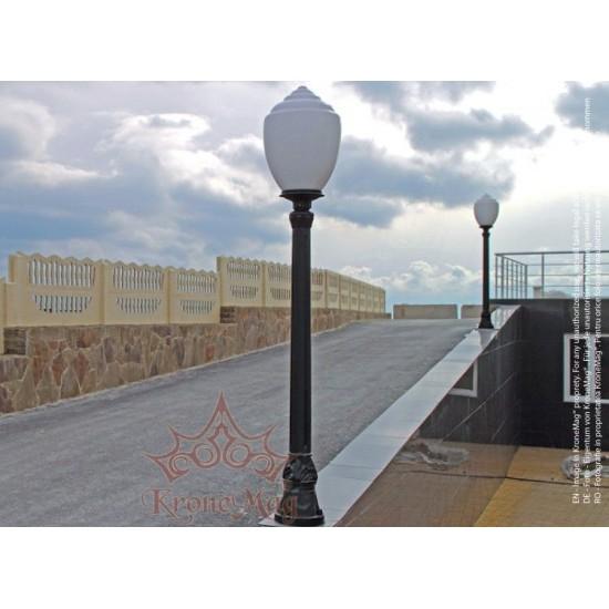 Stâlp Iluminat Parc Metalic cu Înveliș Decorativ Plastic S13-1S