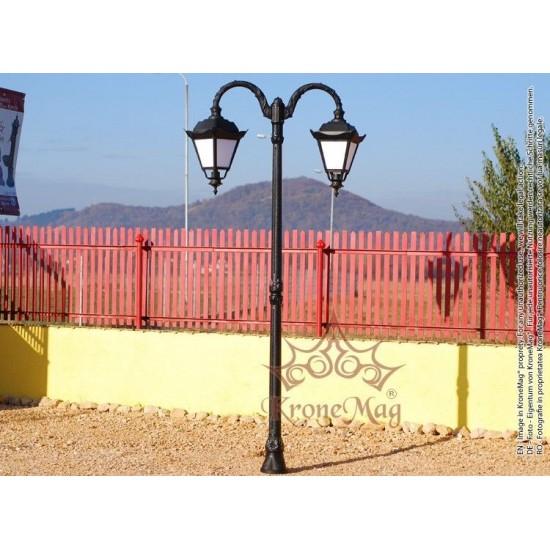 Stâlp Iluminat Parc Metalic cu Înveliș Decorativ Plastic S23-2FJ