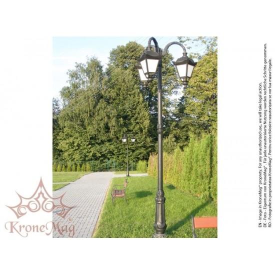 Stâlp Iluminat Parc Metalic cu Înveliș Decorativ Plastic S.31-3FJ