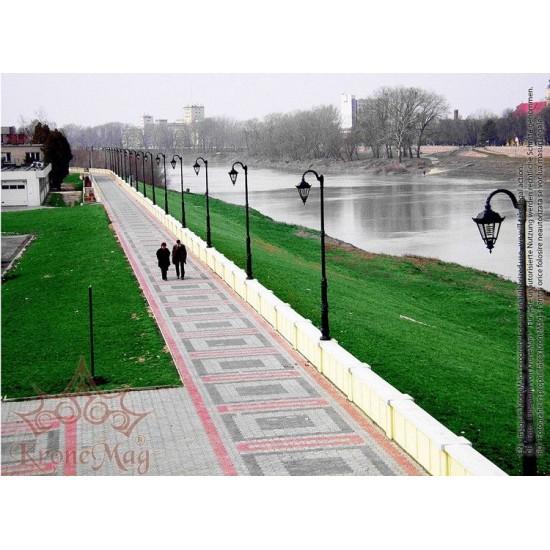 Stâlp Iluminat Parc Metalic cu Înveliș Decorativ Plastic S.40-1FJ