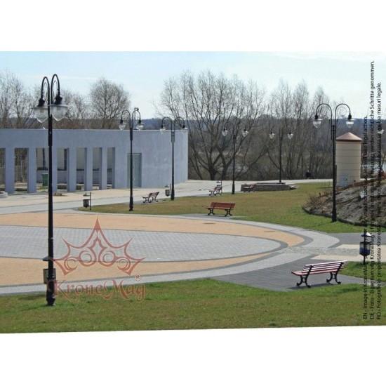 Stâlp Iluminat Stradal Metalic cu Înveliș Plastic SM.1W-WTM-20-2