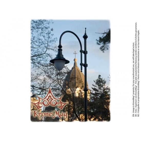Stâlp Iluminat Stradal Metalic cu Ornamente Fontă T28-H1