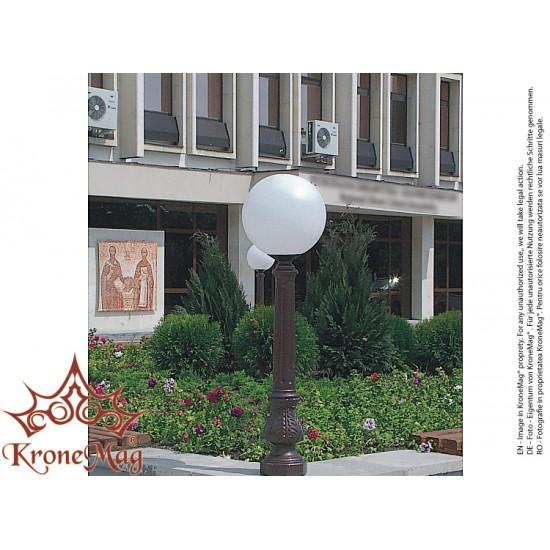 Stâlpișor Iluminat Grădină,Curte Fontă SI 902 GLOB300A
