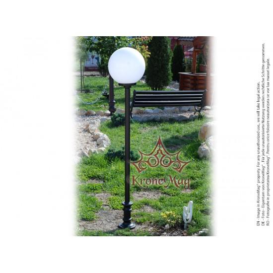 Stâlpișor Iluminat Grădină,Curte Fontă SI 947 GLOB300