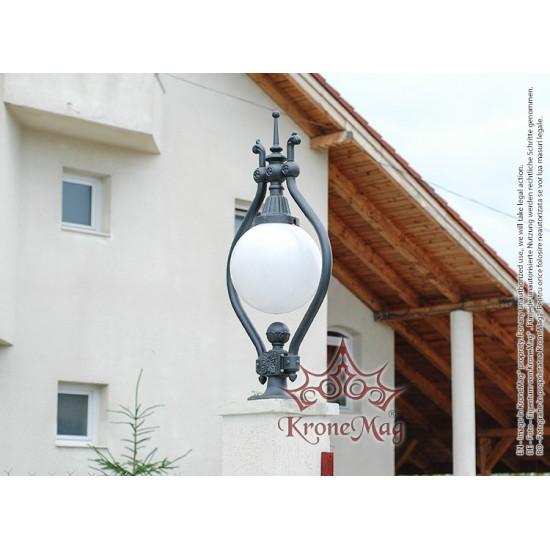 Stâlpișor Iluminat Grădină,Curte Fontă O1 GLOB 400