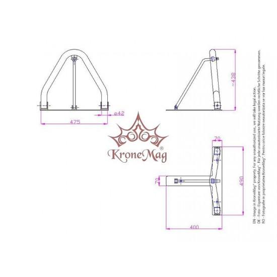 Blocator Metalic Rabatabil pentru Parcare BLP-1