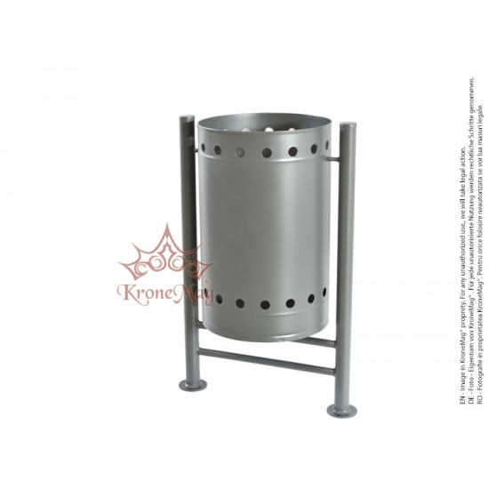 Coș Gunoi Metalic Stradal URBAN 22 - volum 50 litri