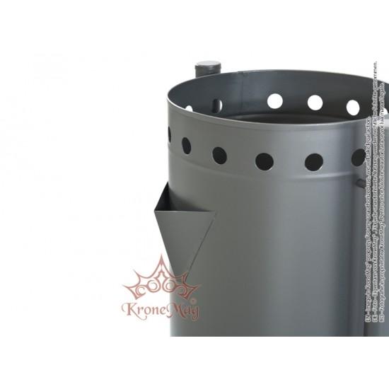 Coș Gunoi Metalic Stradal cu Scrumieră URBAN 22.S - volum 50 litri