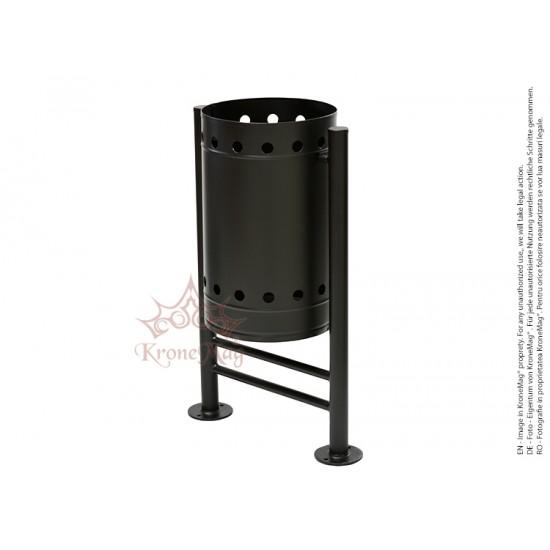 Coș Gunoi Metalic Stradal URBAN 4 - volum 32 litri