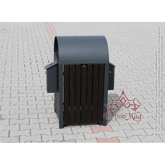 Coș Gunoi Metalic URBAN 9C - 2S cu Capac