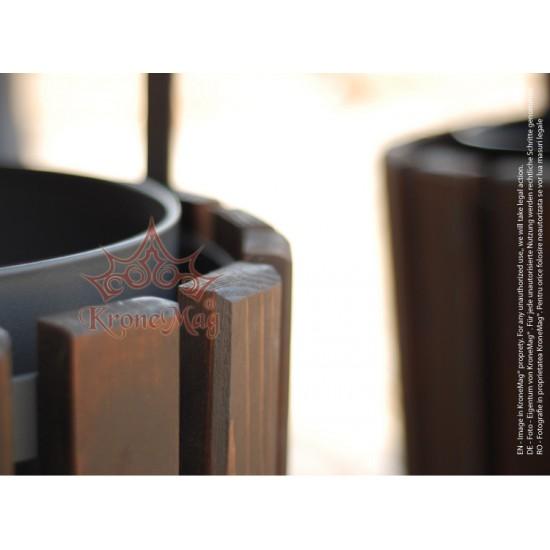 Coș Gunoi Metalic Exterior cu Capac URBAN 6C